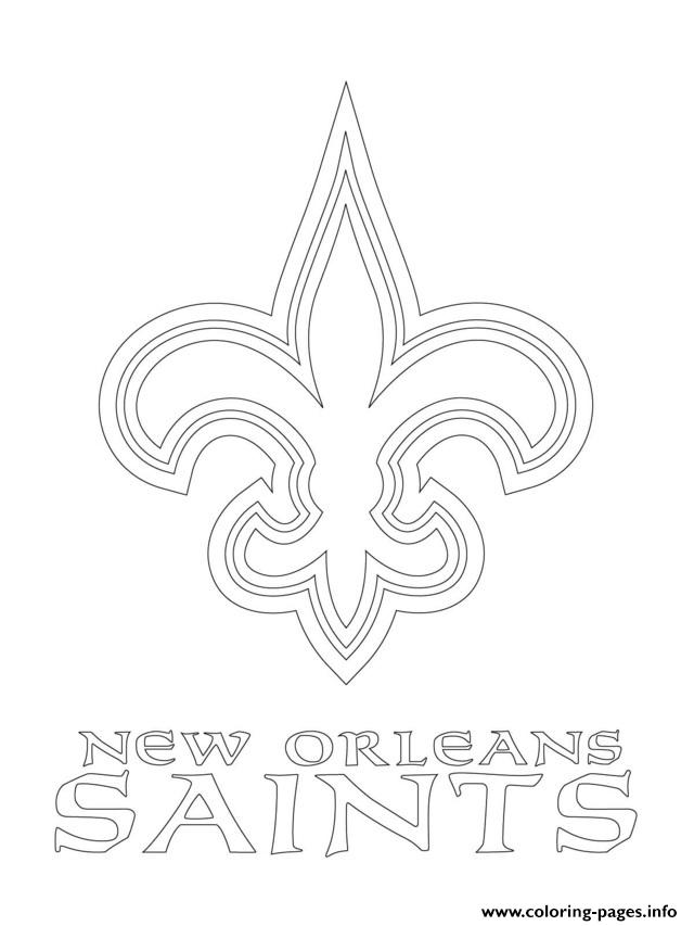 new orleans saints coloring pages for adults | New Orleans Saints Logo Football Sport Coloring Pages ...