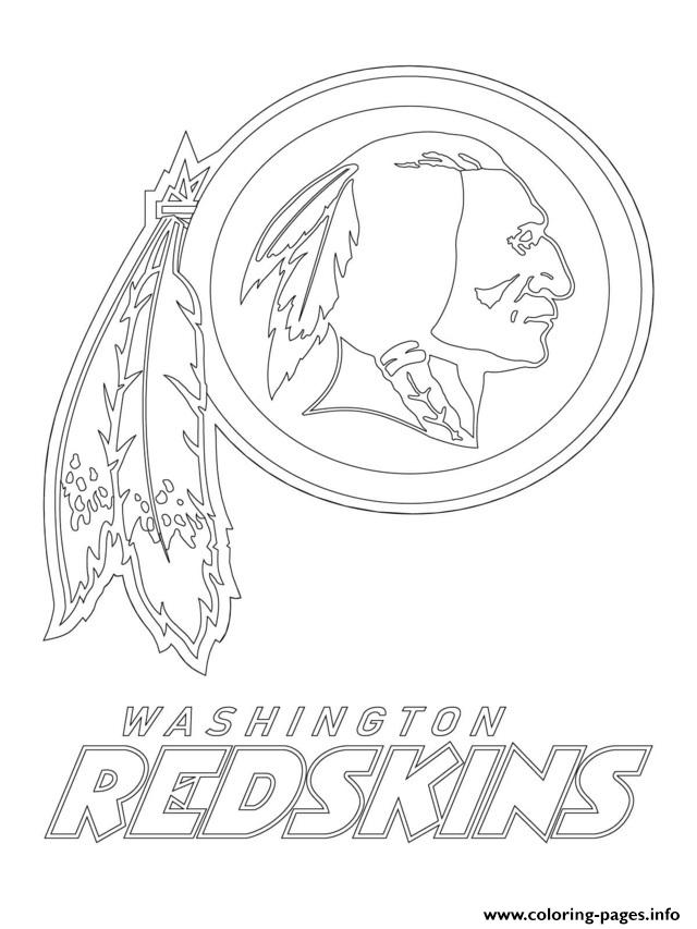 Washington Redskins Logo Football Sport Coloring Pages Printable
