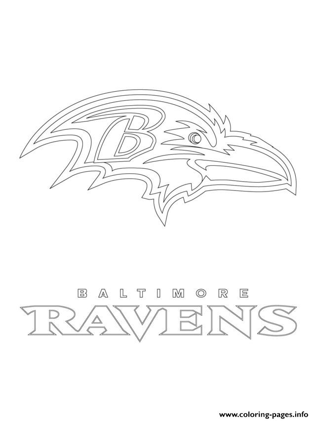 Baltimore Ravens Logo Football
