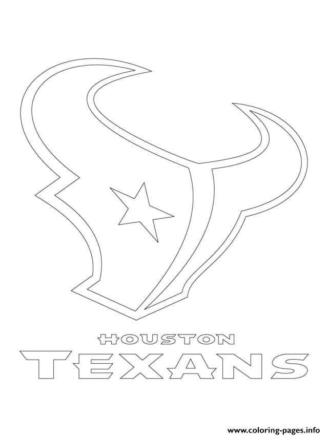 Houston Texans Logo Football Sport Coloring Pages Printable