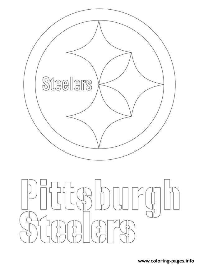 pittsburgh steelers logo football sport coloring pages - Steelers Coloring Pages