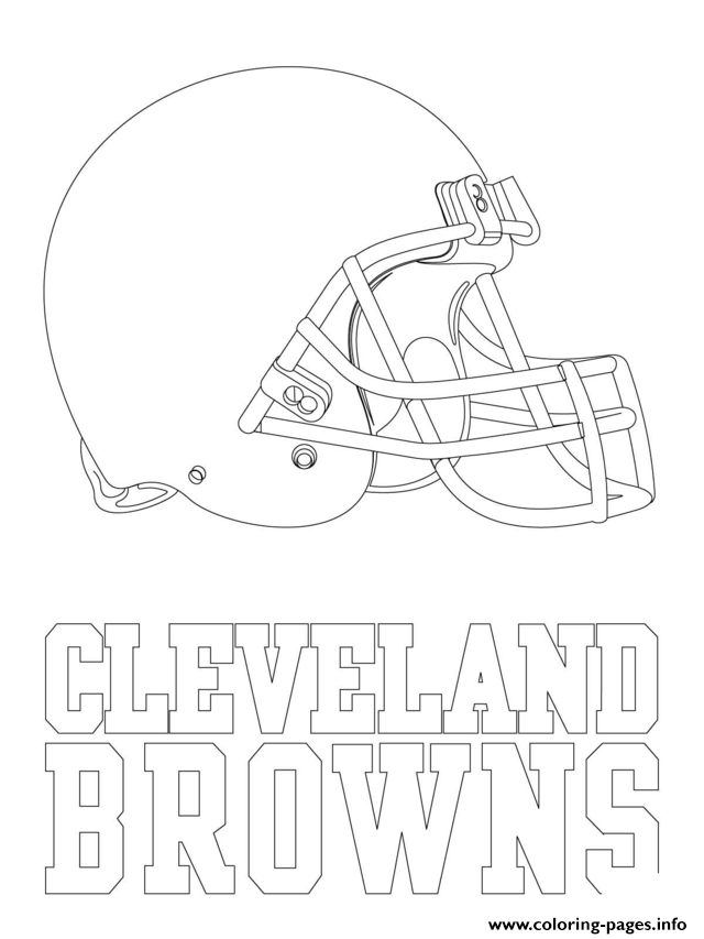 Cleveland Browns Logo Football Sport Coloring Pages Printable