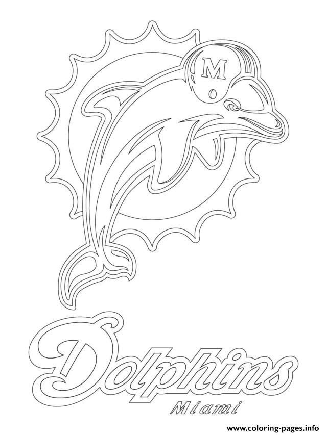 Miami Dolphins Logo Football Sport Coloring Pages