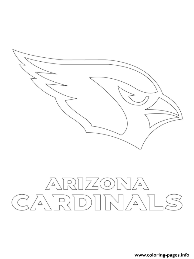 Arizona Cardinals Logo Football Sport coloring pages