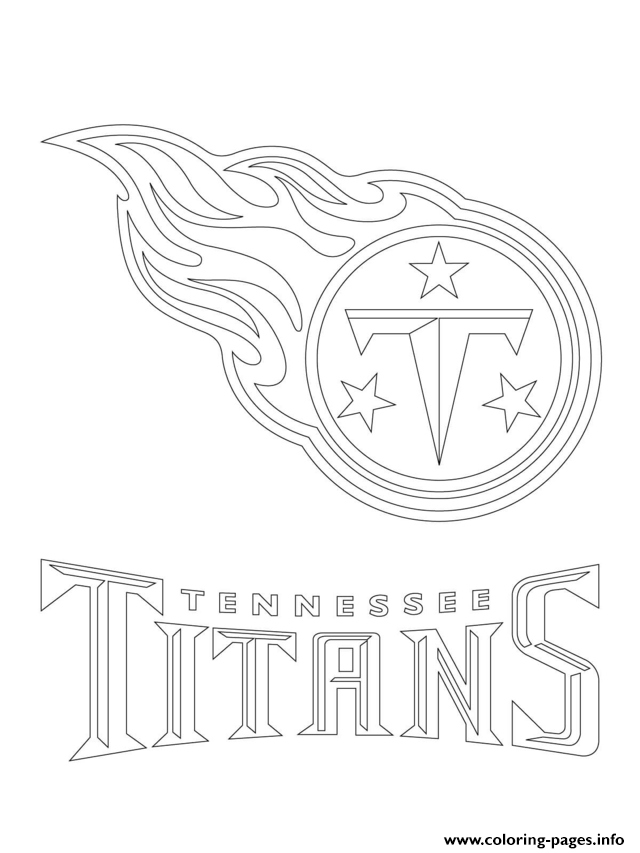 Tennessee Titans Logo Football Sport Coloring Pages Printable