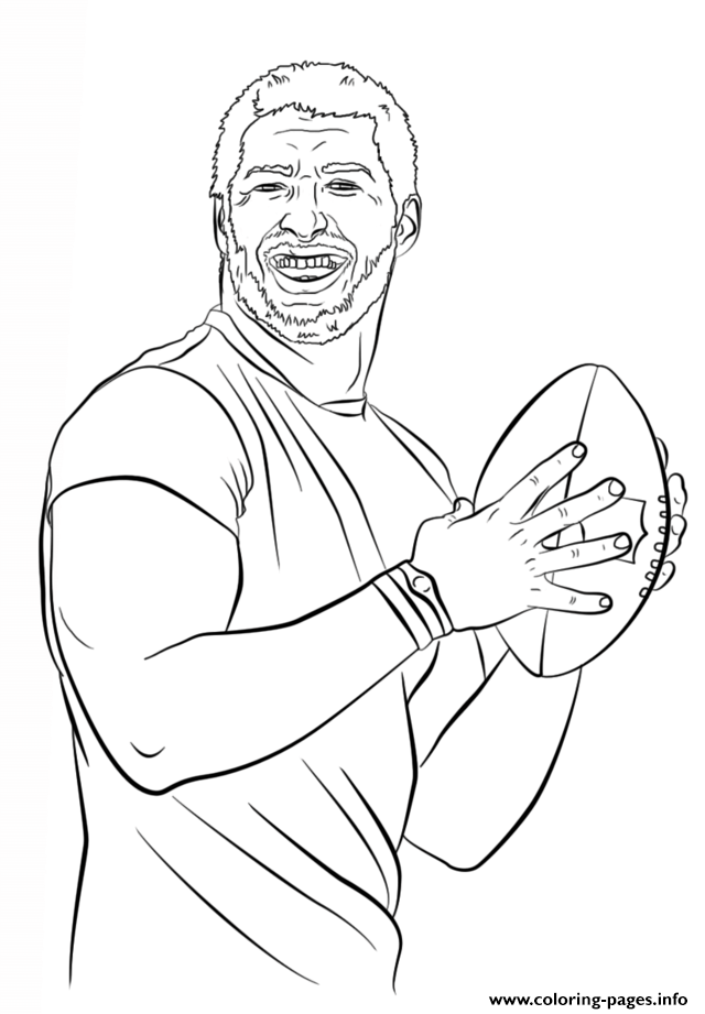 Tim Tebow Football Sport coloring pages