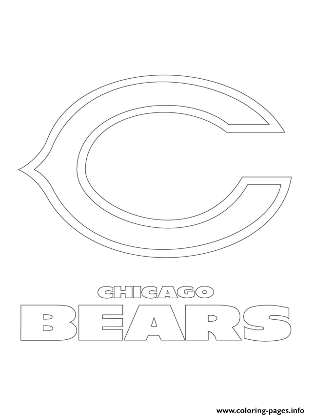 chicago bears logo football sport coloring pages printable. Black Bedroom Furniture Sets. Home Design Ideas