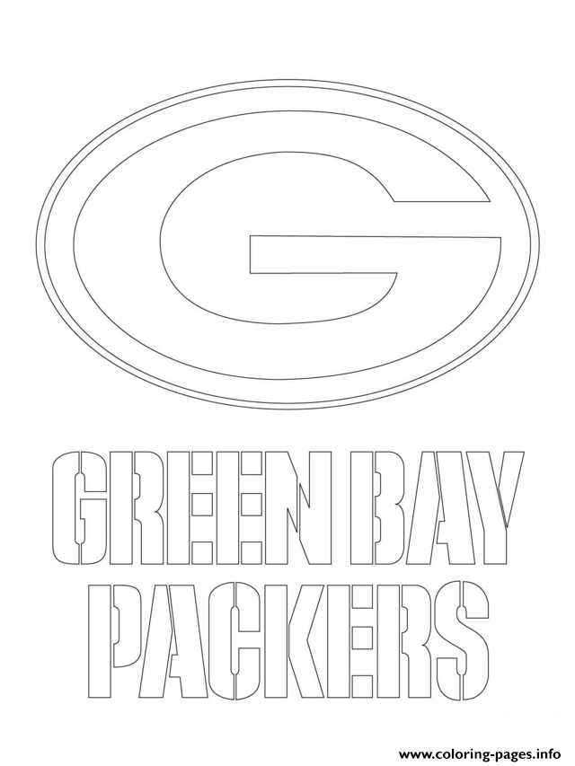 green bay packers logo football sport coloring pages