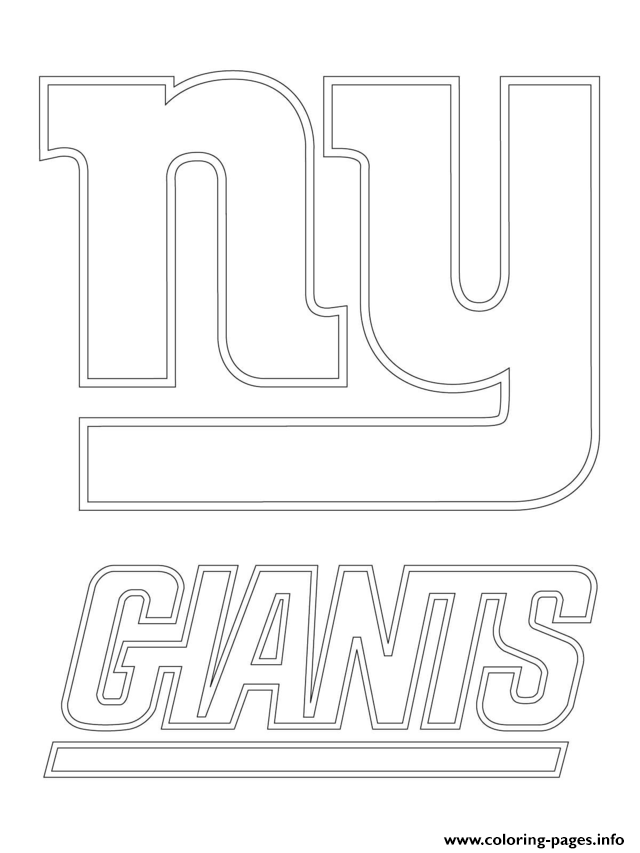 new york giants logo football sport coloring pages
