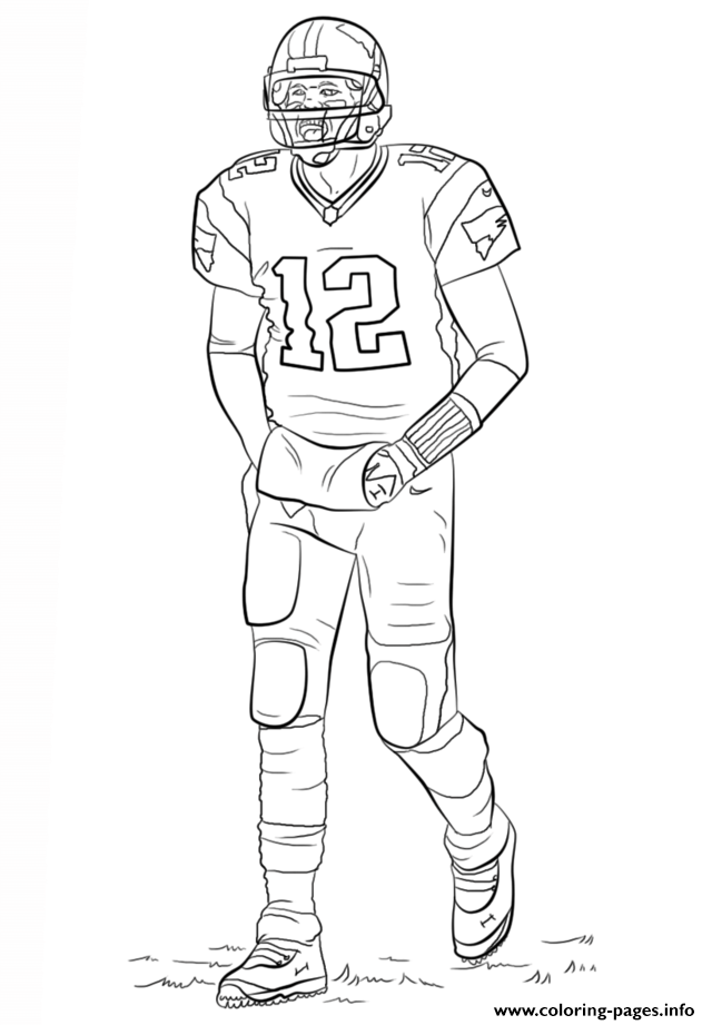 Tom Brady Football Sport coloring pages