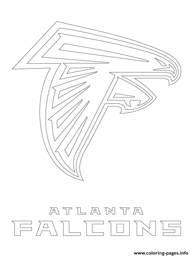 Atlanta Falcons Logo Football Sport coloring pages