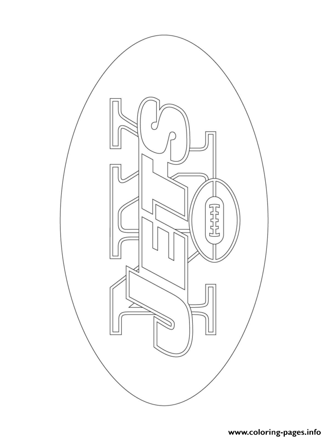 New Yorkjets Logo Football Sport coloring pages