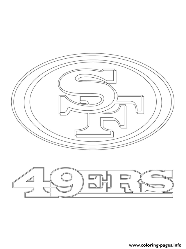 football coloring pages nfl 49ers - photo#6