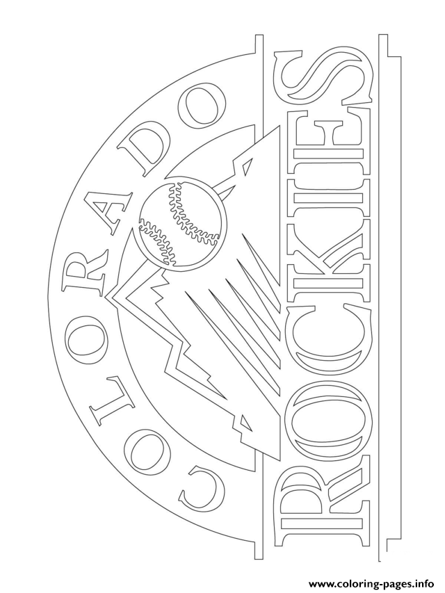 Colorado Rockies Logo Mlb Baseball