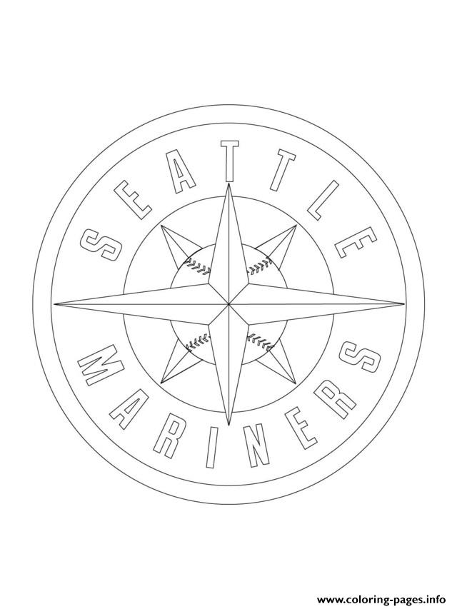 Seattle Mariners Logo Mlb Baseball Sport Coloring Pages