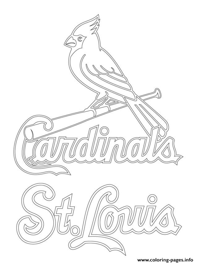 cardinals coloring pages baseball logos | St Louis Cardinals Logo Mlb Baseball Sport Coloring Pages ...