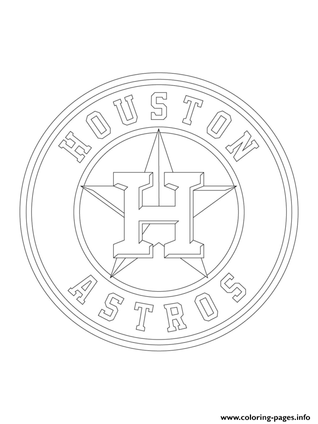 Houston Astros Logo Mlb Baseball Sport Coloring Pages Printable