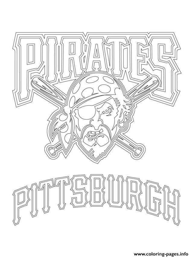 Pittsburgh Pirates Logo Mlb Baseball Sport coloring pages