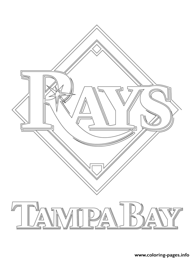 Tampa Bay Rays Logo Mlb Baseball Sport Coloring Pages