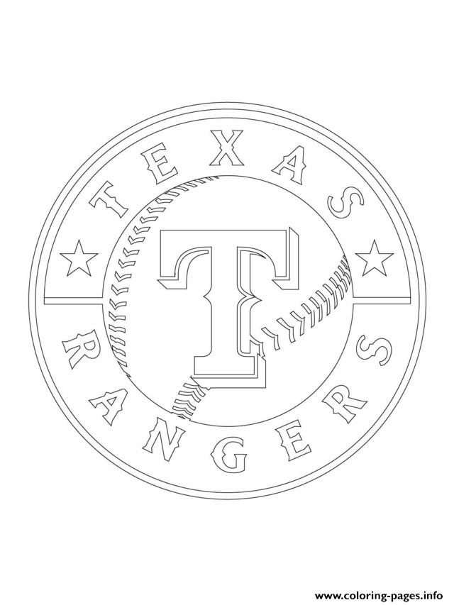Texas Rangers Logo Mlb Baseball Sport Coloring Pages Printable
