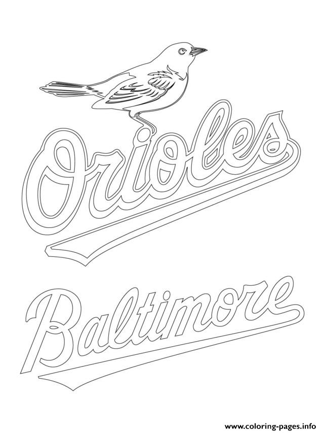 Baltimore Orioles Logo Mlb Baseball Sport coloring pages