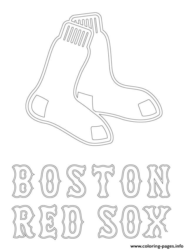 Boston Red Sox Logo Mlb Baseball Sport Coloring Pages