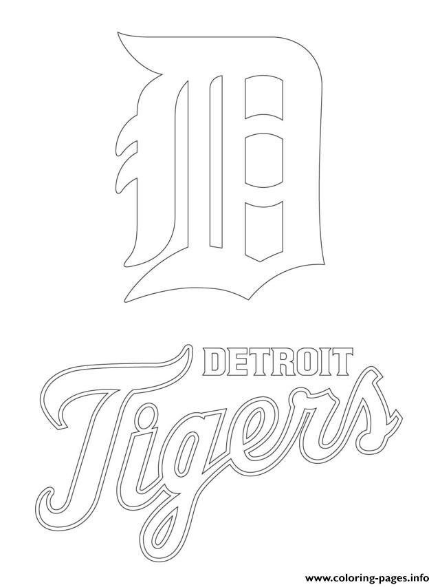 Detroit Tigers Logo Mlb Baseball Sport Coloring Pages