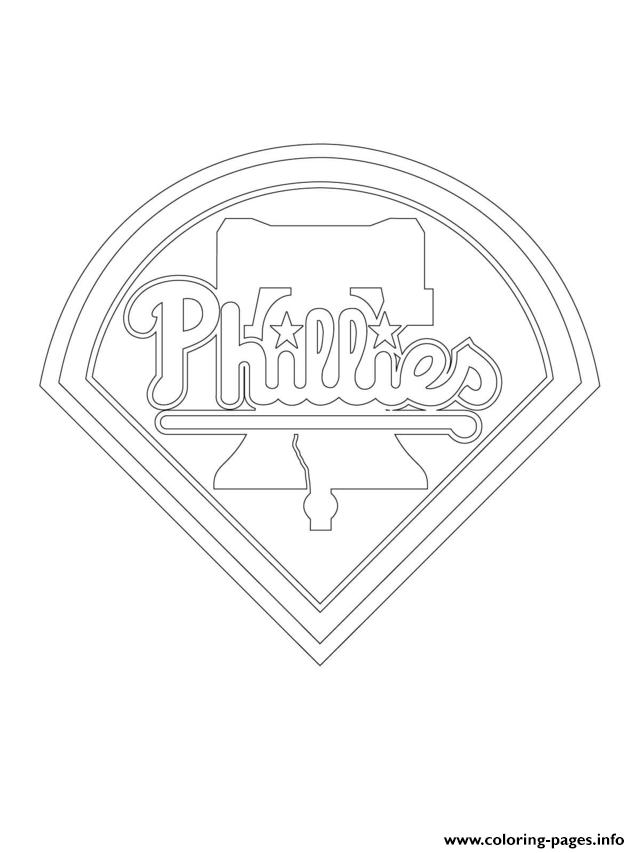 Philadelphia Phillies Logo Mlb Baseball Sport Coloring