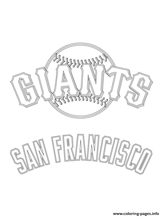 San Francisco Giants Logo Mlb Baseball Sport Coloring Pages