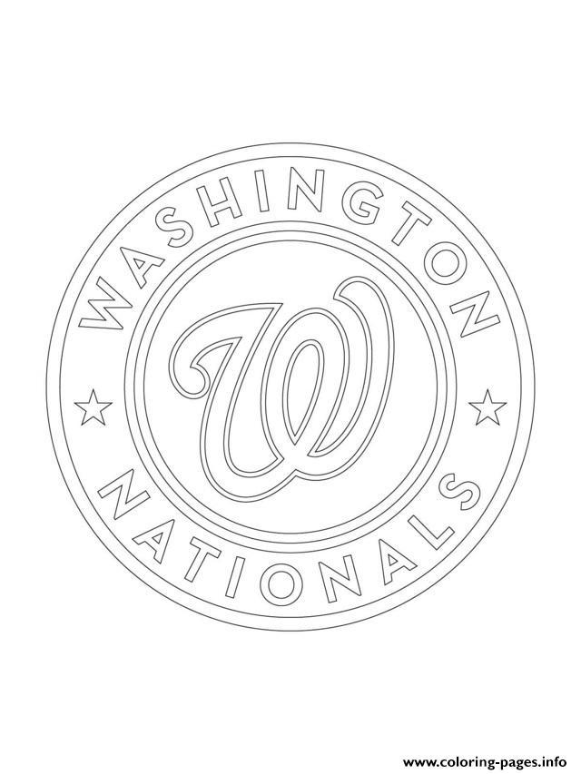 Washington nationals logo mlb baseball sport coloring for Mlb logo coloring pages