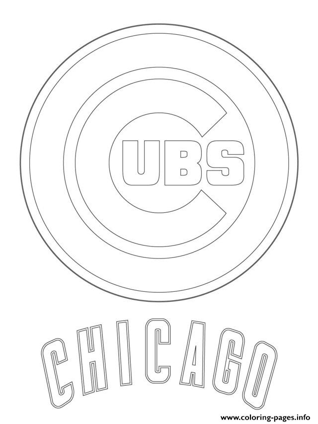 graphic regarding Printable Chicago Cubs Logo called Chicago Cubs Symbol Mlb Baseball Game Coloring Internet pages Printable
