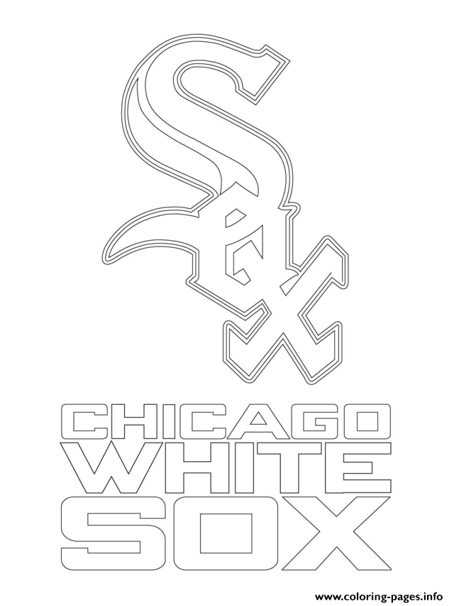 Chicago White Sox Logo Mlb Baseball Sport coloring pages