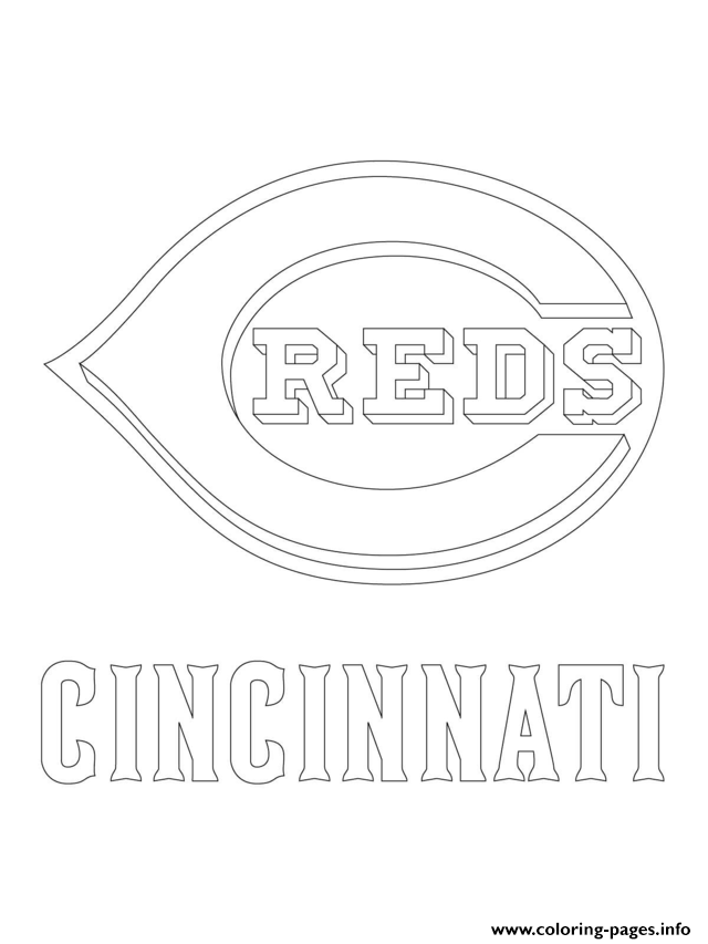 Cincinnati Reds Logo Mlb Baseball Sport Coloring Pages Printable