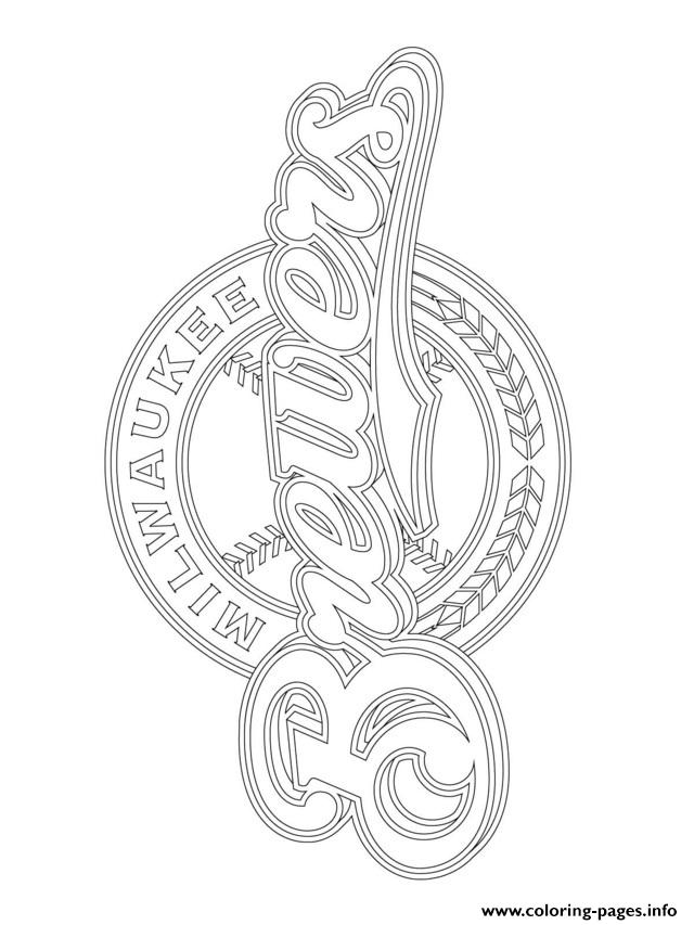 Milwaukee brewers logo mlb baseball sport coloring pages for Mlb logo coloring pages