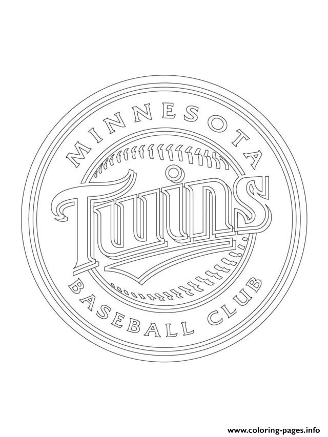 Minnesota Twins Logo Mlb Baseball Sport Coloring Pages