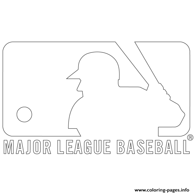 mlb logo mlb baseball sport coloring pages printable. Black Bedroom Furniture Sets. Home Design Ideas