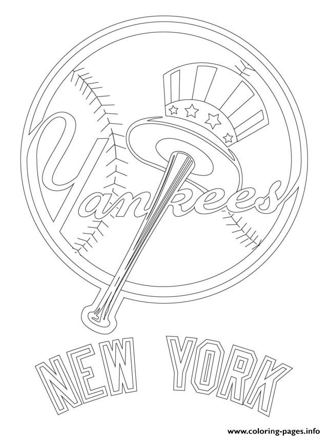 picture regarding Yankees Schedule Printable named Fresh new York Yankees Emblem Mlb Baseball Recreation Coloring Internet pages