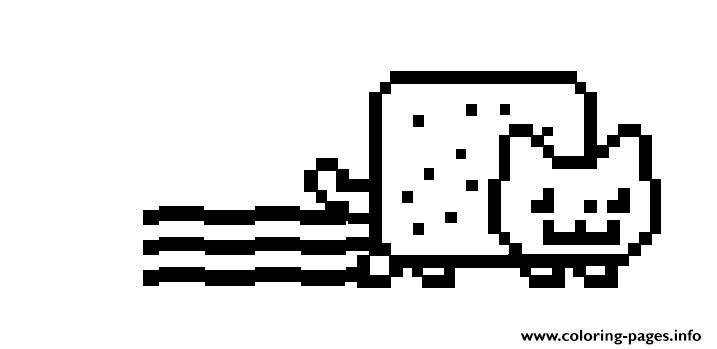 Nyan Cat Original Coloring Pages