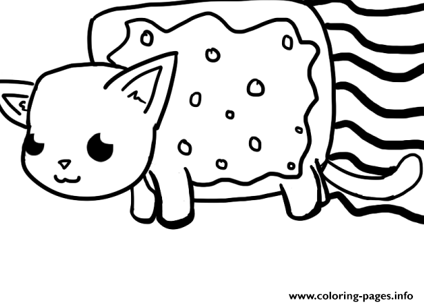 Nyan cat big coloring pages