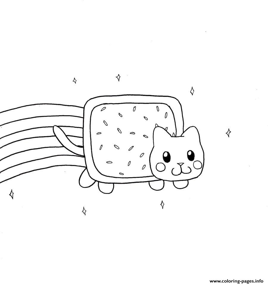 nyan cat by canela803 coloring pages printable