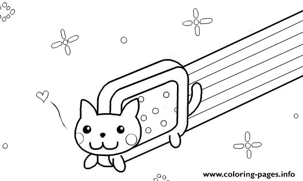 Nyan Cat Template By Kixfe Coloring