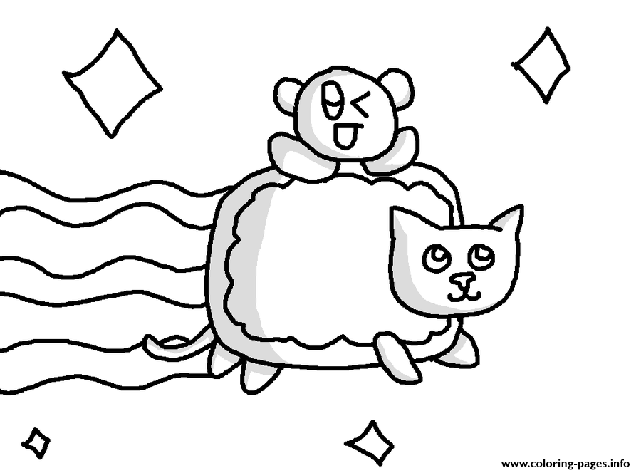 Nyan Cat With Baby Nyan Cat Coloring Pages Printable