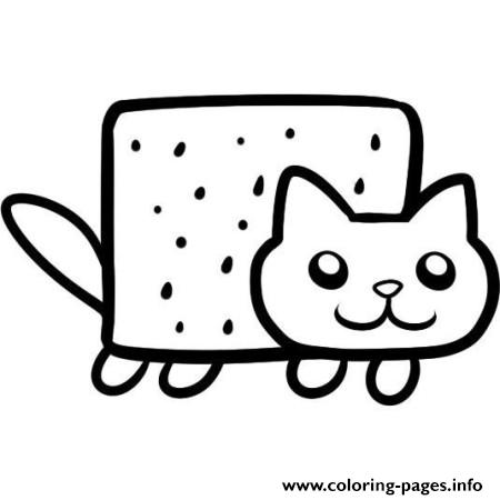 Simple Nyan Cat Coloring Pages