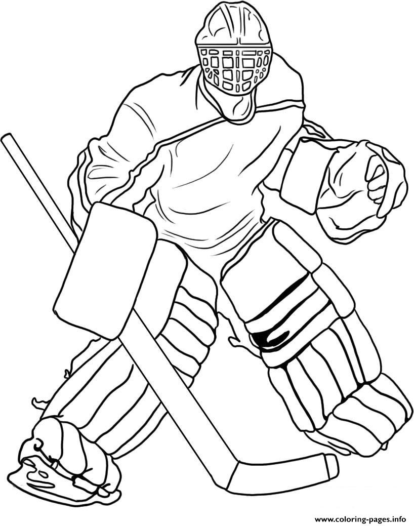 Hockey Goalie Coloring Pages Print Download 305 Prints