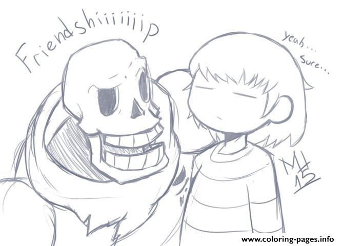 Undertale Friendship Coloring Pages Printable