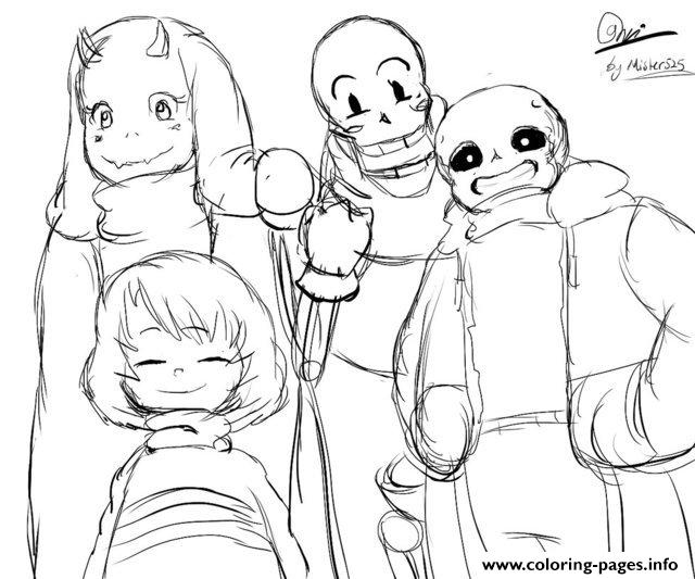 undertale character from toby fox by mister525 coloring pages printable