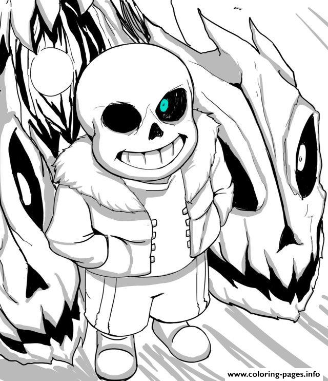 Cool Undertale By Aoshi7 Coloring Pages Printable