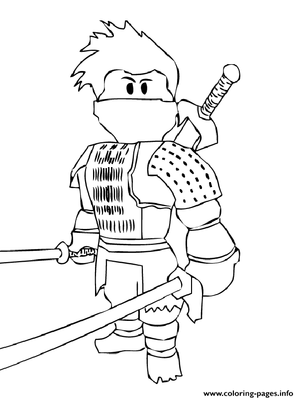 image about Ninja Coloring Pages Printable identified as Roblox Ninja Coloring Internet pages Printable
