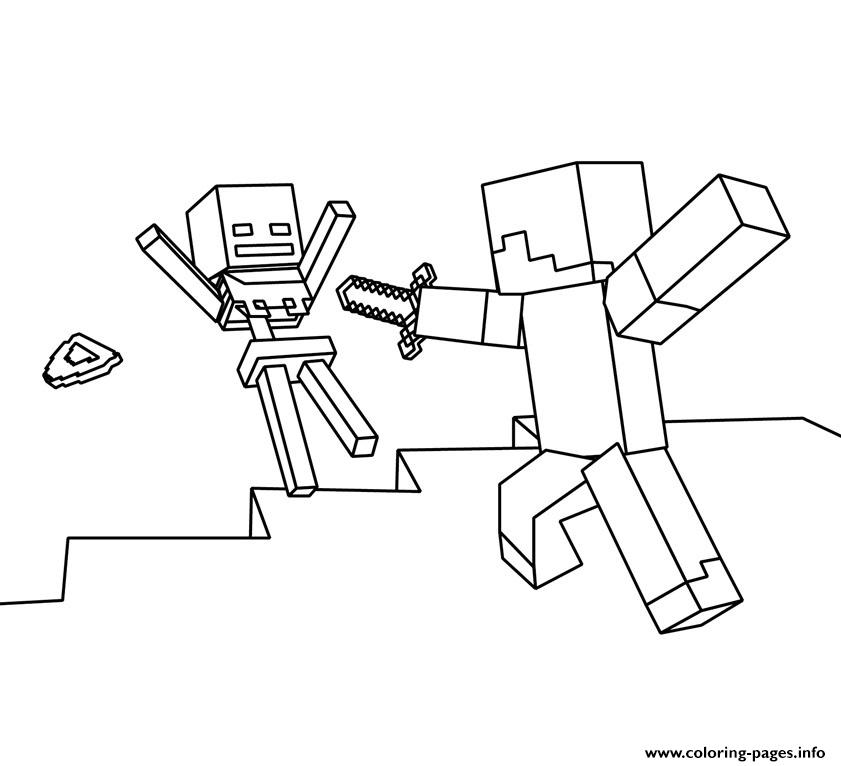 Roblox Vs Minecraft Coloring Pages Printable