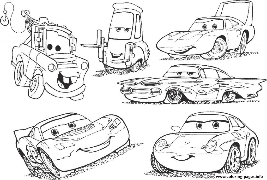 Disney Cars 2 Lightning Mcqueen Movie Coloring Pages Printable